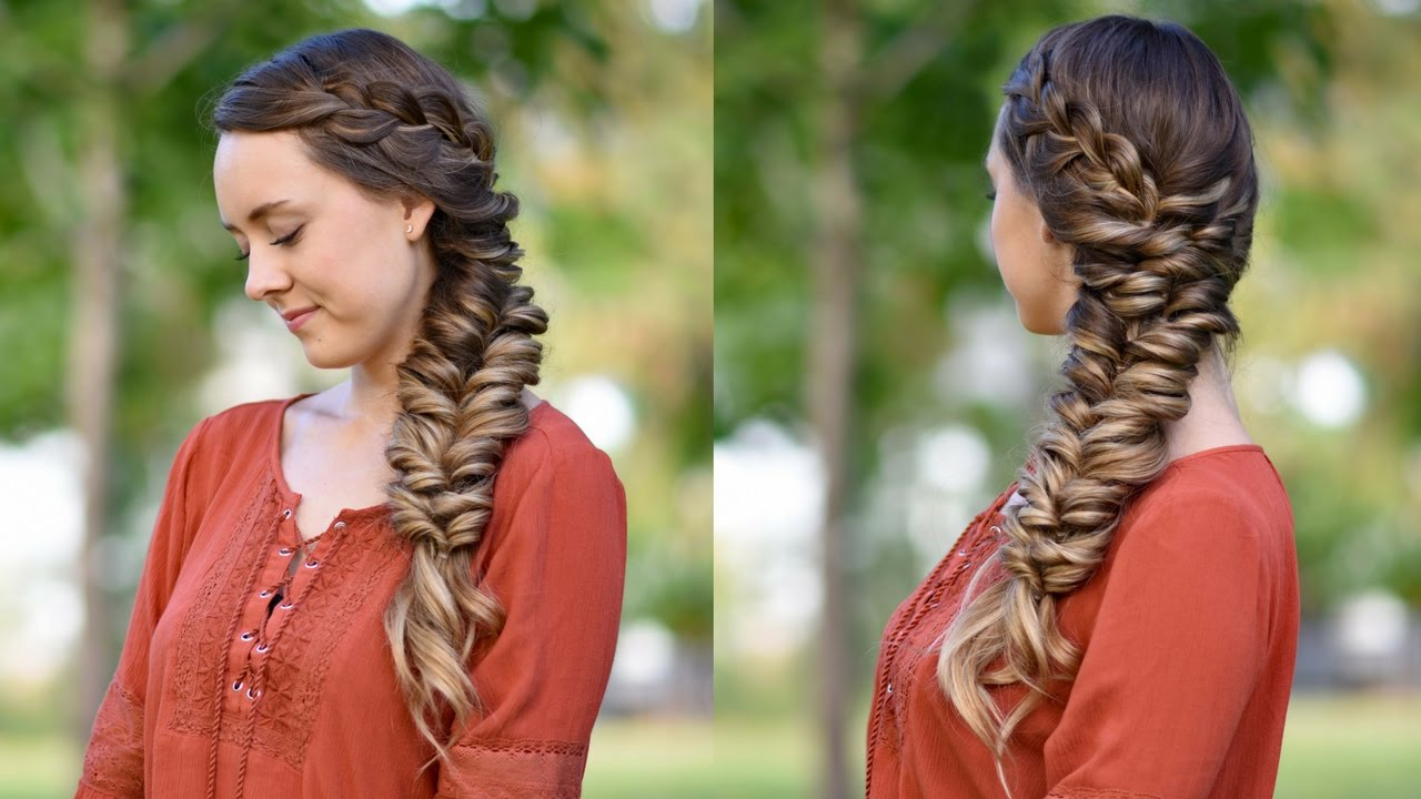 side elastic braid   diy hairstyles   cute girls hairstyles