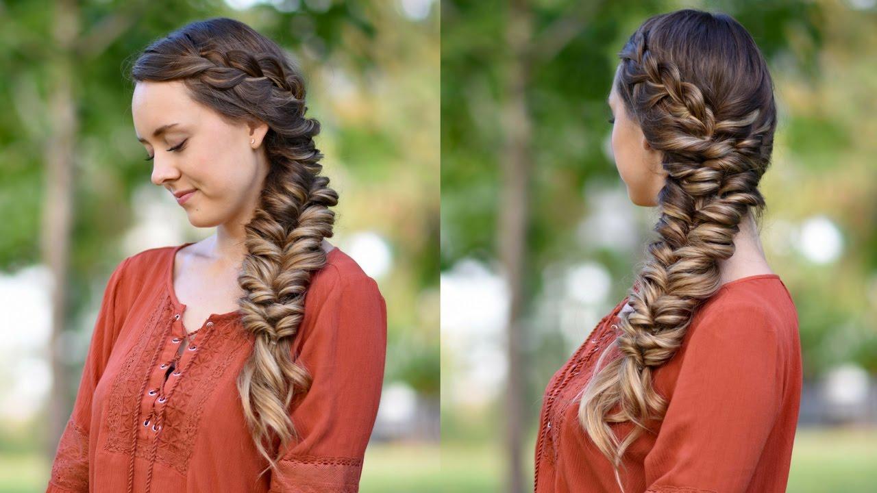 Side Elastic Braid DIY Hairstyles Cute Girls