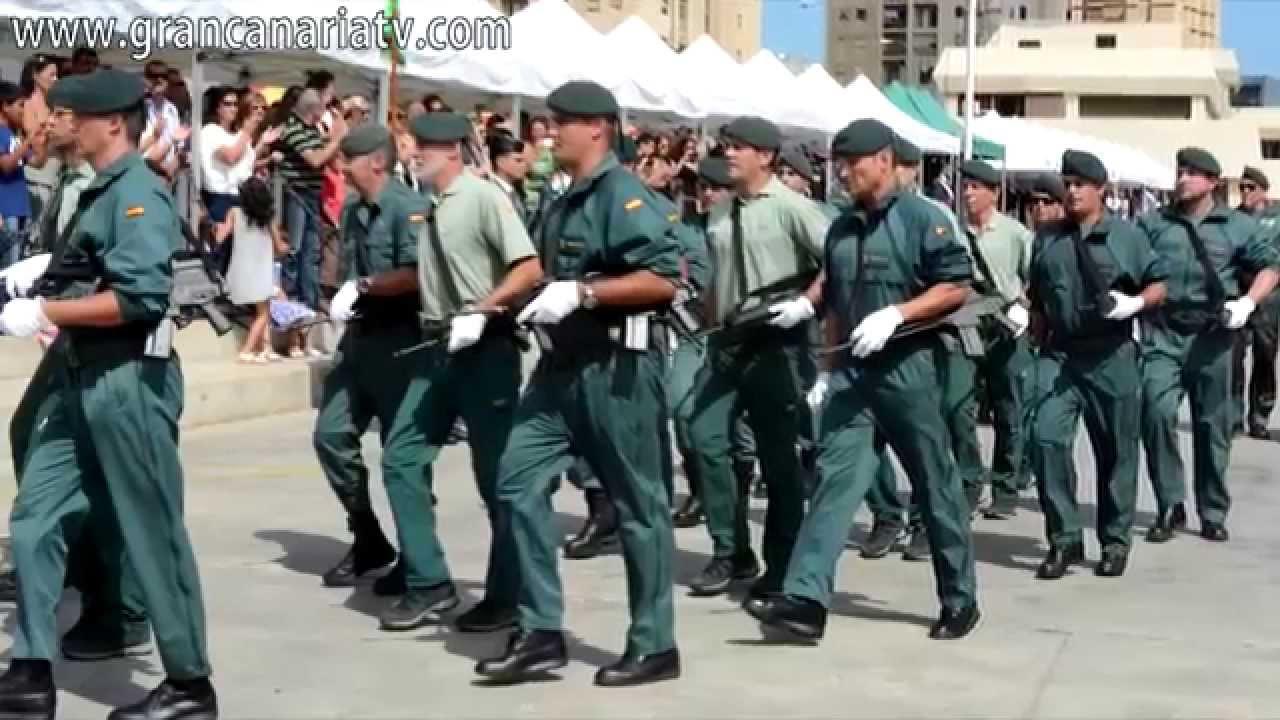 D a del pilar guardia civil desfile y homenaje youtube - Gran canaria tv com ...