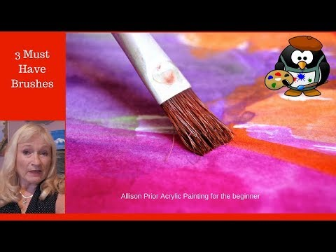 3 MUST HAVE  Brushes for your Acrylic Paintings, Brushes I use in my paintings.