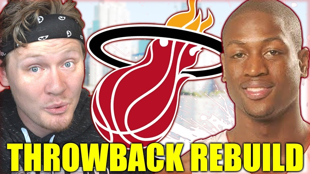 best service 1b16e d7692 REBUILDING THE 2003 MIAMI HEAT *ROOKIE WADE* Throwback NBA 2K19
