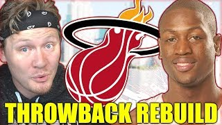 REBUILDING THE 2003 MIAMI HEAT *ROOKIE WADE* Throwback NBA 2K19