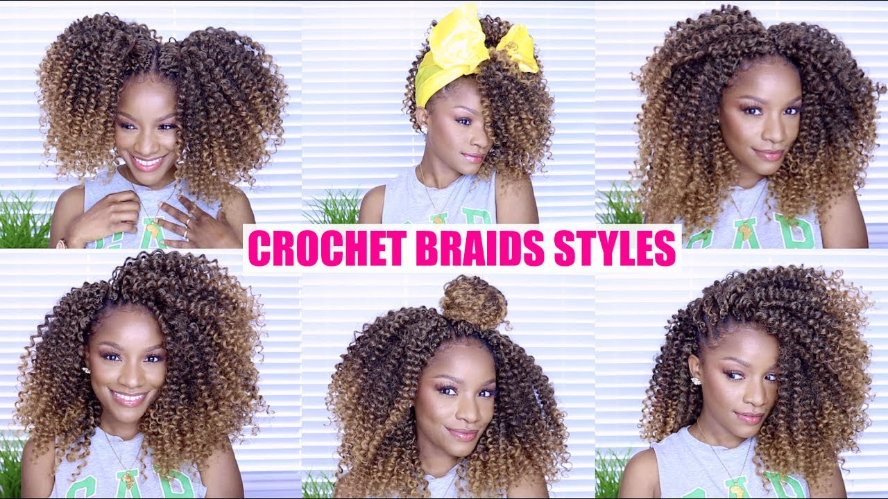 Quick Easy Crochet Braids Styles Thebrilliantbeauty Youtube
