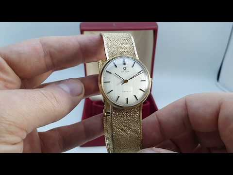 1973 1974 Omega Geneve Gold Vintage Watch With Box And Papers.  Model Reference 331.2541