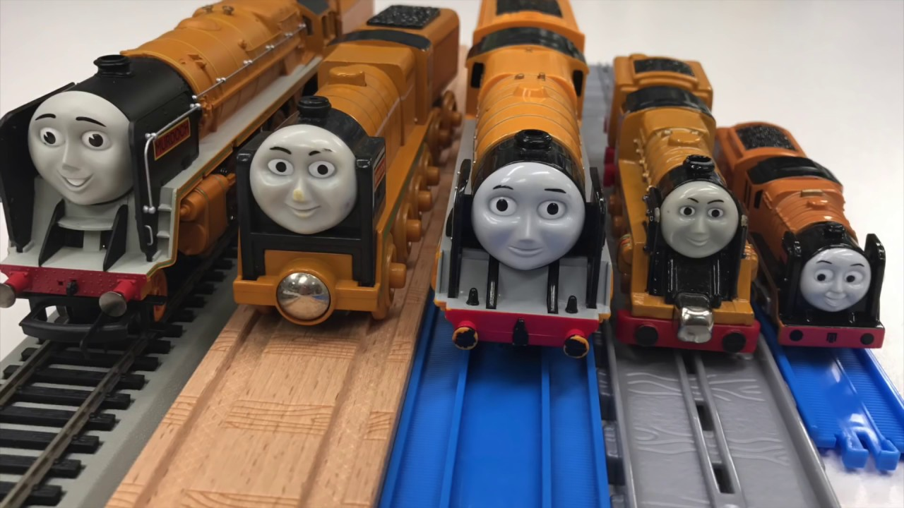 Murdoch Vs School Bus Thomas And Friends Collection Hornby Tomy Take N Play Wooden Ttfc