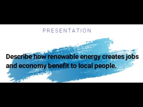 Renewable Energy creates jobs & economy benefit | Chap 1 Q10