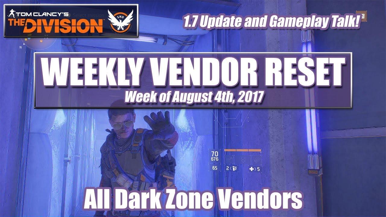 Dark Zone Vendor Division 2