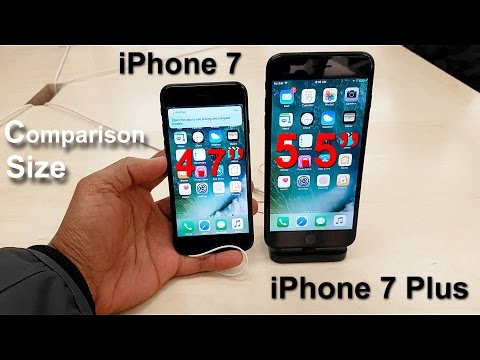 iPhone 7 vs iPhone 7 Plus - Size Comparison (S7 Edge 4K video with the DJI Osmo Mobile)