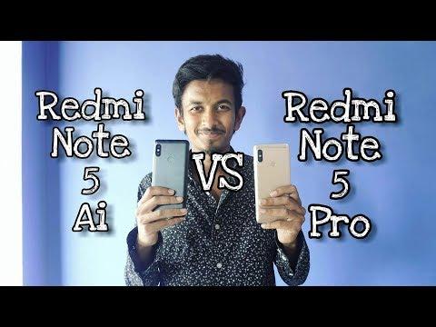 Xiaomi Note 5 Pro VS Xiaomi Note 5 Ai   India VS China   4K   ATC