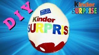 How to make a surprise egg GIANT KINDER EGG