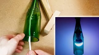 How To Make A Wall Lamp from a Glass Bottle | Do it yourself | #DIY