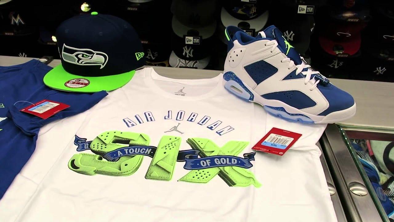 9ea389a4863 Nike Air Jordan 6 Ghost Green Seahawks at Street Gear, Hempstead NY ...