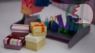 Как сделать подарочную коробку для кукол. How to make gift box for dolls.(Мастер-класс, как сделать коробку для кукол. Маленькая коробка для подарков, в этой коробке можно хранить..., 2014-02-15T19:46:46.000Z)