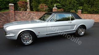 1966 Ford Mustang GT, silver, for sale Old Town Automobile in Maryland
