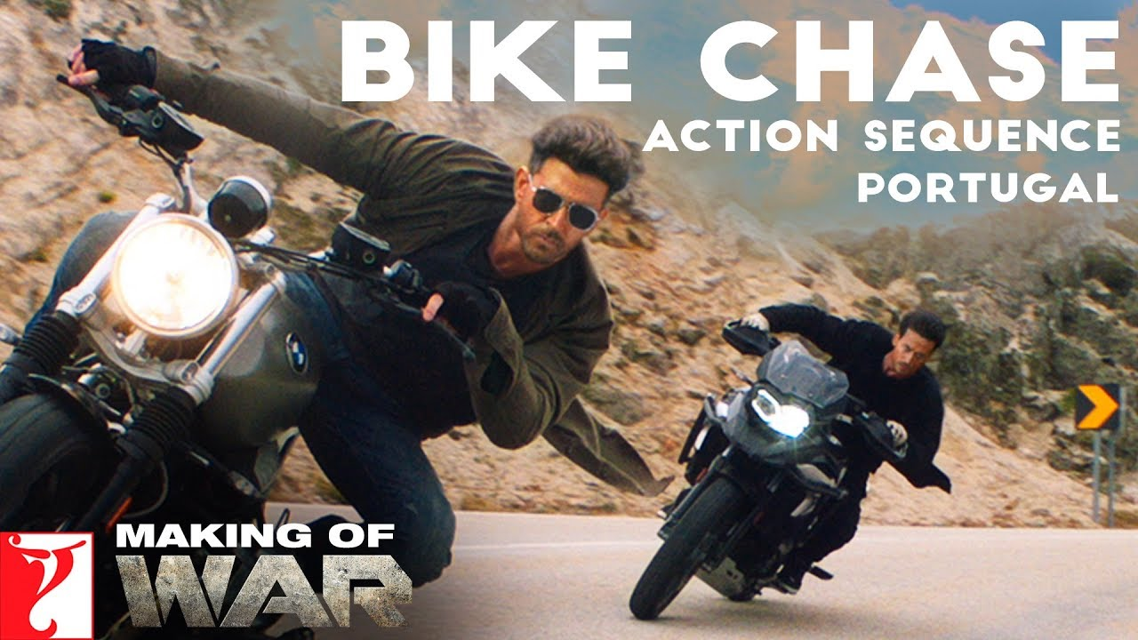 Download Making of War | Bike Chase Action Sequence - Portugal, Hrithik Roshan, Tiger Shroff, Siddharth Anand