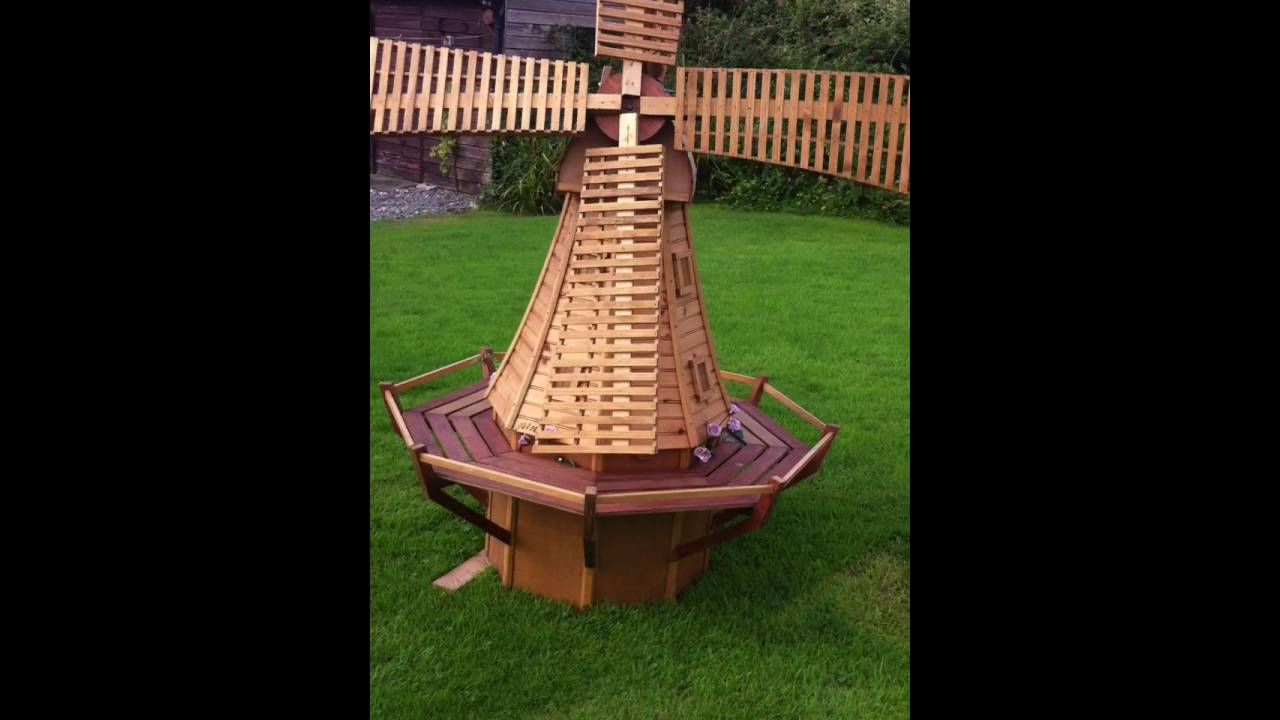Dutch Windmill Garden Ornament