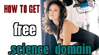 How to get free .science domain