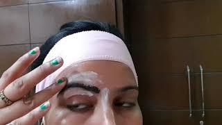 देखिए क्या हुआ वैक्स से बनाई जब पहली बार आइब्रो / eyebrows by using wax