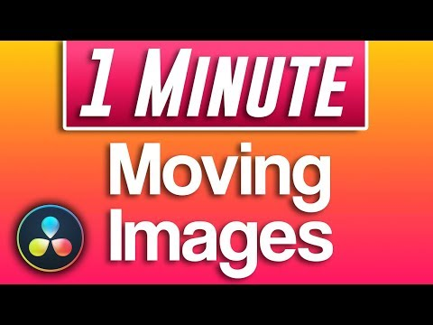 Davinci Resolve - How To Move Images (Animate Movement)
