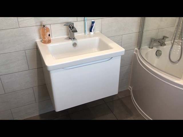 Family bathroom with inset storage