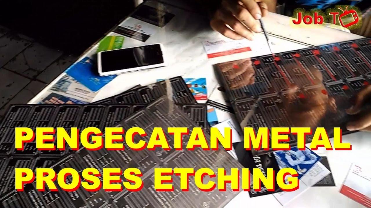 Painting metal etching process