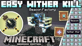 Minecraft Bedrock - EASY WITHER KILLER + FAST STARS ☠️ Tutorial ⭐ PS4 ,MCPE ,Xbox ,Windows & Switch