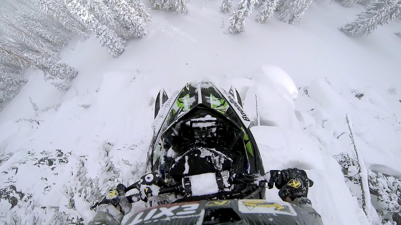 Free Snow Falling Live Wallpaper Gopro Epic Snowmobile Drop Youtube