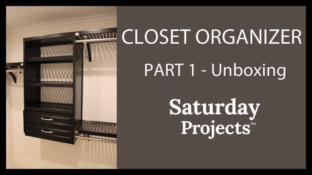 Lowes Wood Closet Organizer Kit Unboxing Inspection Directions