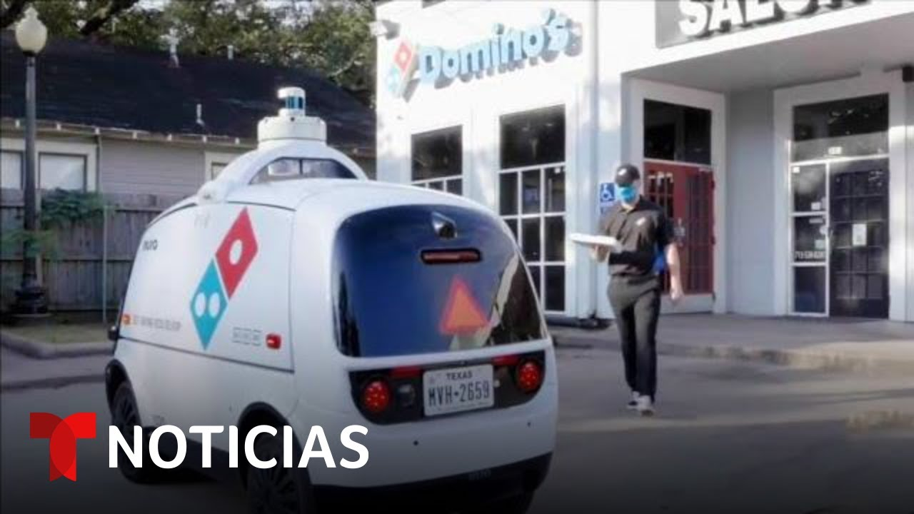 Implementan servicio de entrega de pizza con auto robotizado en Houston | Noticias Telemundo