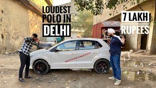 Volkswagen Polo With Loudest Music Setup | Modified Volkswagen Polo | Dual Projectors On Polo