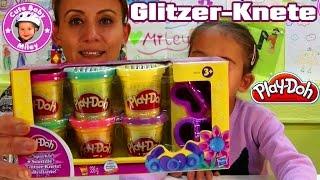 Play-Doh Glitzer Knete - wir formen kneten und experimentieren mit Miley - Kanal für Kinder