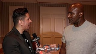 "EVANDER HOLYFIELD ""WILDER WAS THE CHAMPION 1ST! WHY WONT IT BE A 50/50 SPLIT!"" WITH ANTHONY JOSHUA"