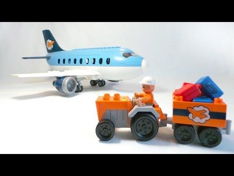 Самолёт в городе Лего. Подготовка к полёту. Аэропорт Lego Duplo