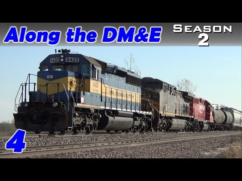 CP Freight Trains 474 and 475 Meet in Blakesburg, IA April 2014 | Along the DM&E Ep. 4