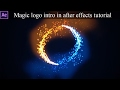 After effects tutorial - Magic logo intro | trapcode particular particles