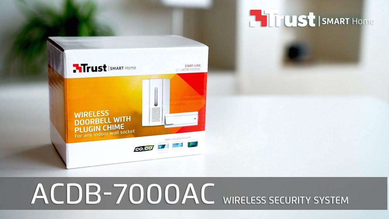 trust smart home installation acdb 7000ac wireless doorbell english youtube. Black Bedroom Furniture Sets. Home Design Ideas