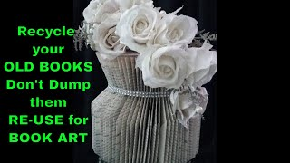 Book folding VASE. The most popular VASE only 30 min to make the vase.