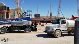 Las Vegas Raiders stadium construction update 10/16/18