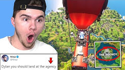 FAMOUS YOUTUBERS pick where I land in Fortnite...