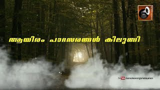 ആയിരംപാദസരങ്ങൾ | Karaoke With Lyrics | Aayiram Padasarangal Karaoke With Lyrics | OldMalayalamSongs