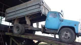 """ГАЗ-53. Заезд на """"глухой"""" подъёмник."""