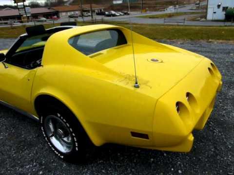 1975 Yellow Corvette L82 4spd For Sale - YouTube