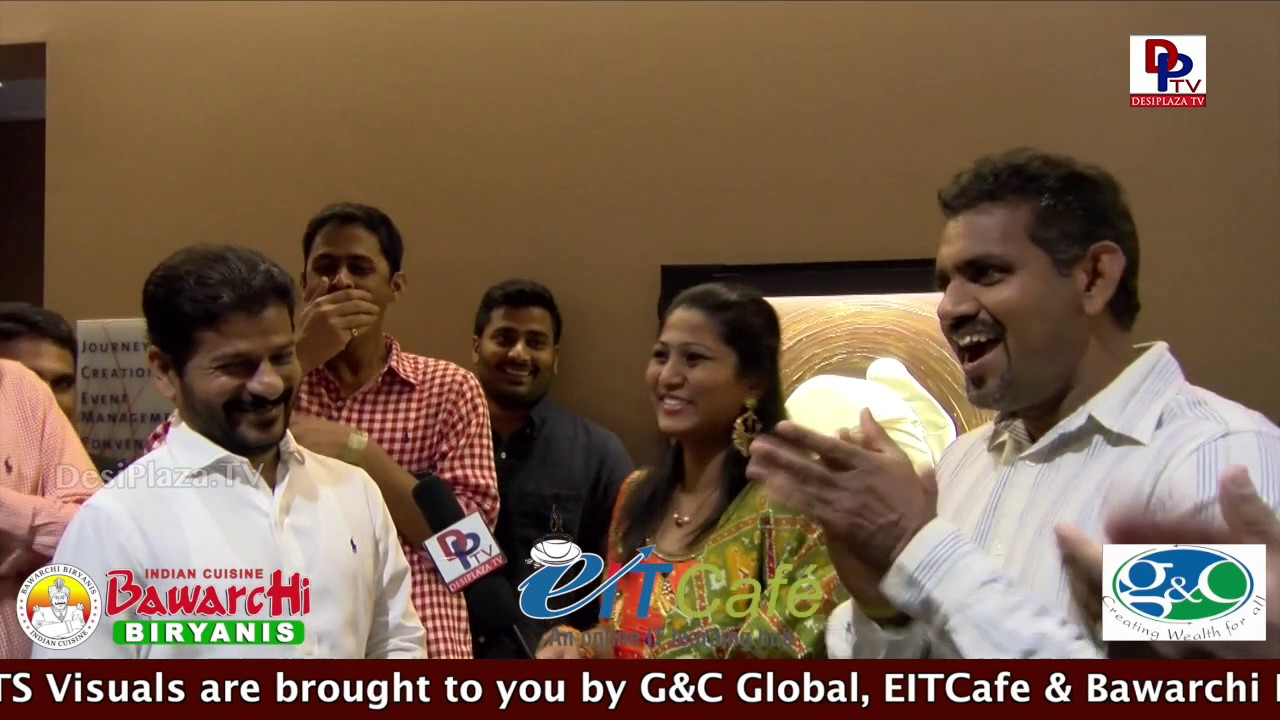 TTDP - Revanth Reddy revels his fitness secret with DPTV @ NATS  Conference