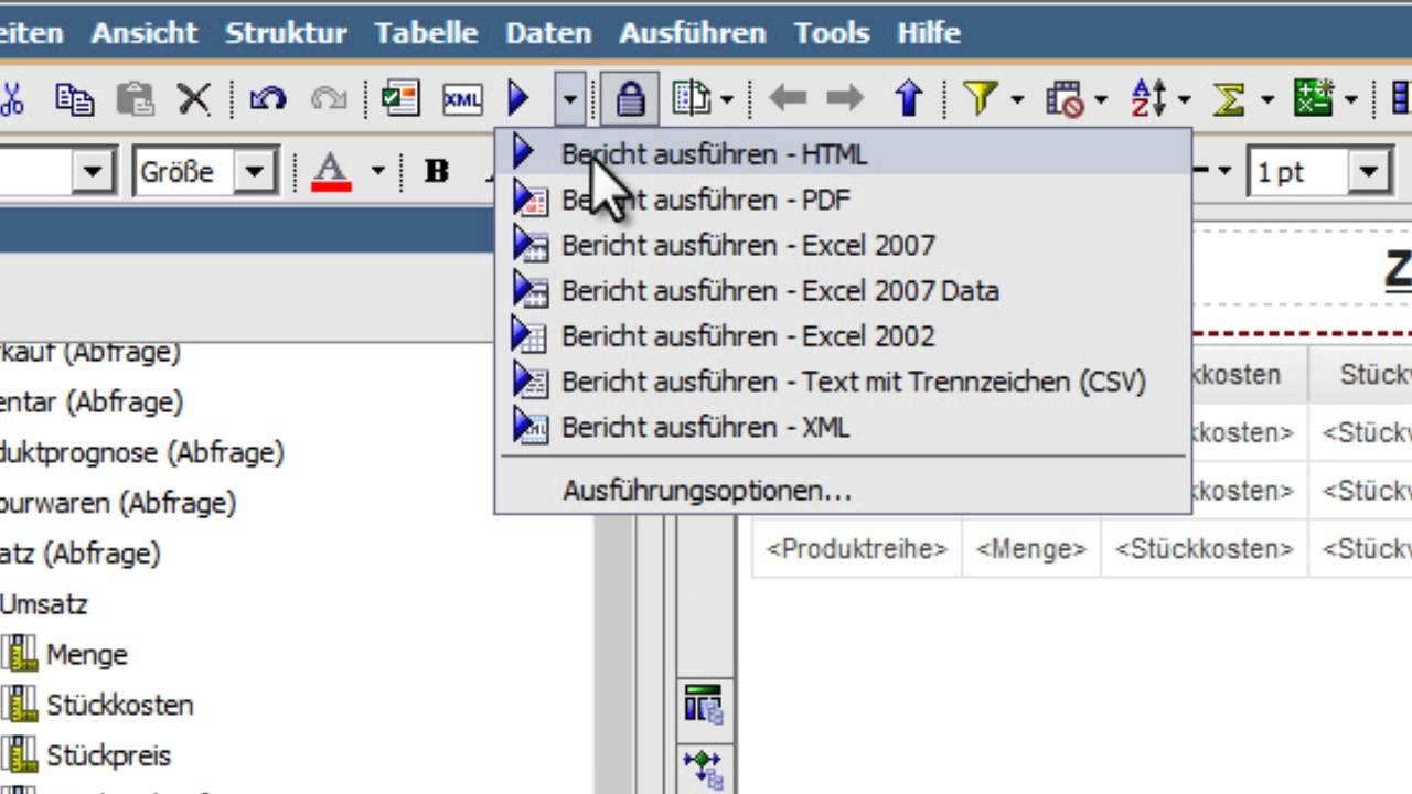 IBM Cognos Report Studio - Grundlagen - Part 1 - YouTube