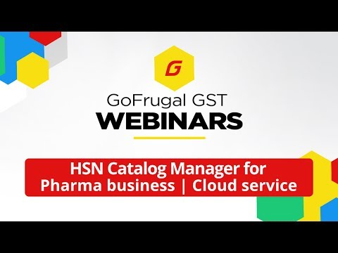 GoFrugal provides - HSN Catalog Manager for Pharma Businesses | Cloud Service