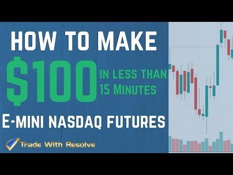 Live Day Trading Futures for Beginners: How to make $100 in 15 minutes
