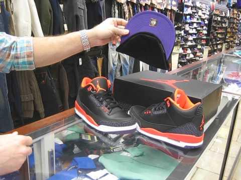 Nike Air Jordan III Retro - Black, Crimson, Purple, Violet at Street Gear, Hempstead NY