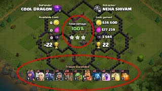 How can i get best loot for Clash of clans // clash of clans 3 star strategy //