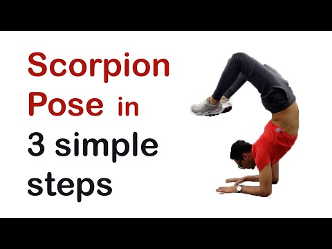 3 simple moves to Scorpion Pose and Forearm Stand (With English subtitles)