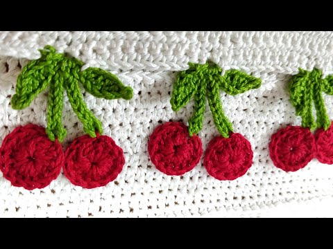 Crochet Cherry Fruit Applique Youtube